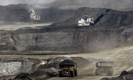 Tar sands extraction in Alberta, Canada