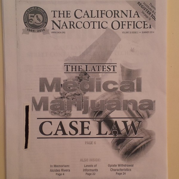 A 2014 training manual for 'locking' California patients into incriminating statements about marijuana. - ASA