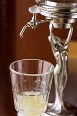 CHRIS DUFFEY - The absinthe fountain at St. George Spirits.