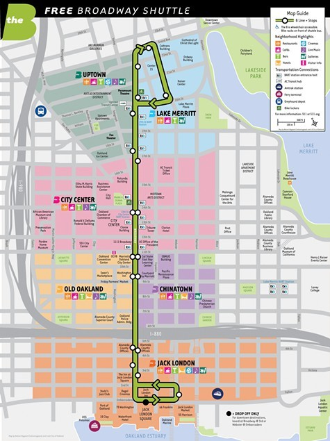 The B goes from Uptown to the waterfront