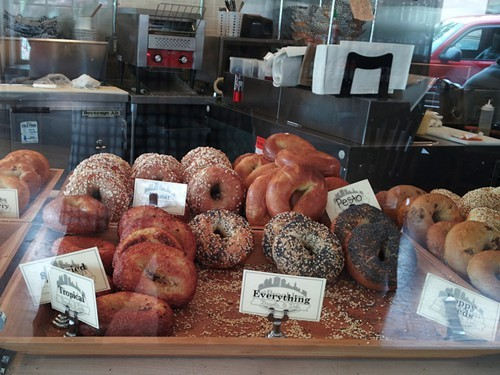 The bagel selection.