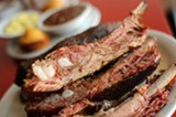 CHRIS DUFFEY - The barbecued ribs are lusciously textured and delectable.