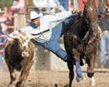 ROY DABNEY - The Bill Picket Invitational Rodeo in Phoenix.