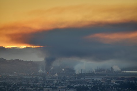 The Chevron refinery fire last year.