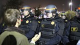 JOAQUIN PALOMINO/FILE PHOTO - The CHP at an East Bay protest last fall.