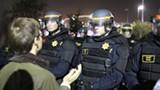 JOAQUIN PALOMINO/FILE PHOTO - The CHP at an East Bay protest last fall.