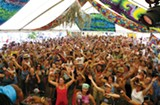 The crowd at the High Sierra Music Festival.