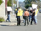 MICHAEL BEER - The group of protesters allegedly paid by Joe Fisher.