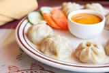 BERT JOHNSON - The lamb momo (steamed dumplings) burst with meaty, savory juices.