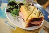 CHRIS DUFFEY - The large and diverse menu includes the croque monsieur sandwich.