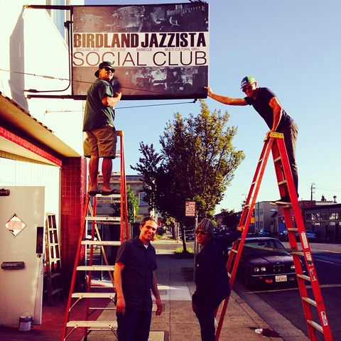 The new North Oakland site of Birdland Jazzista Social Club, which was founded by Michael Parayno (bottom right).