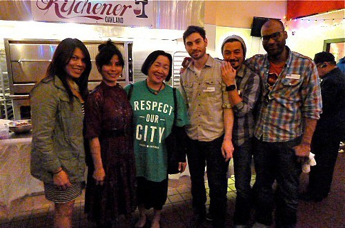 The New Urban Eating team, pictured with Oakland mayor Jean Quan during their recent launch party.