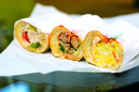 POP's ahi tuna, pork adobo, and egg sandwiches. - BERT JOHNSON