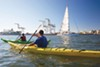 The Oakland Estuary is best experienced on the water.