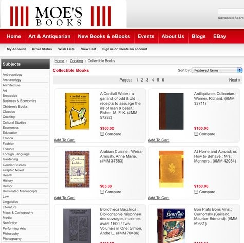 The online collection includes both new and rare cookbooks.