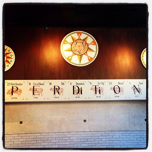 The Periodic Table of Meats, at Perdition Smokehouse (via Facebook)