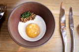 CHRIS DUFFEY - The poached egg amuse-bouche.
