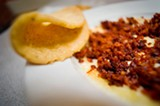 CHRIS DUFFEY - The queso fundido con chorizo is a highly indulgent dish of salt and fat.