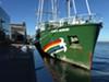 The <i>Rainbow Warrior</i> will be docked at San Francisco's Pier 15 until November 19.