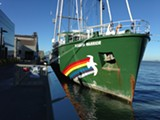 ALI WINSTON - The Rainbow Warrior will be docked at San Francisco's Pier 15 until November 19.
