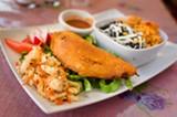 CHRIS DUFFEY - The Salvadoran-style pork empanadas have a wonderfully crisp texture and a caramelized flavor.