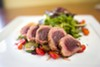 The seared ahi salad is beautifully prepared.