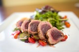 CHRIS DUFFEY - The seared ahi salad is beautifully prepared.