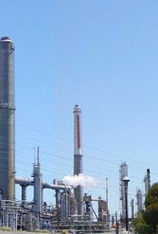 The Shell refinery in Martinez.