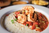 CHRIS DUFFEY - The shrimp jambalaya and grits.