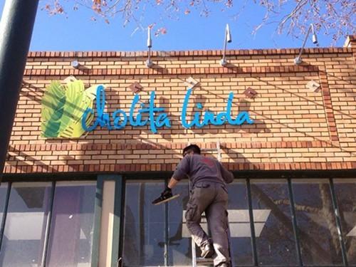 The sign is up at Cholita Linda (via Facebook).