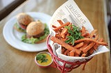 CHRIS DUFFEY - The sliders are satisfying, and the sweet potato fries are irresistibly crisp and savory.