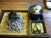 The soba lunch is very traditional.