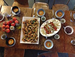 The spread at next week's Sobremesa pop-up dinner might look something like this. - CAMILA LOEW