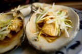 CHRIS DUFFEY - The steamed surf clams are huge and oh so tasty.