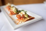 CHRIS DUFFEY - The Tinga is bite-size canapés of moist, chipotle-edged organic chicken topped with avocado and crème fraîche.