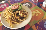 CHRIS DUFFEY - The veggie bacon cheeseburger is called the Space Cowboy.