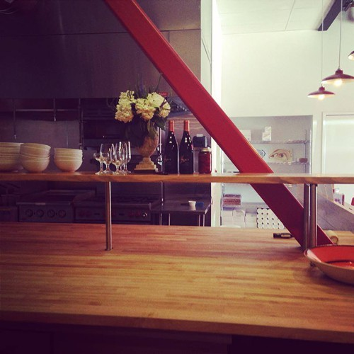 The view into the kitchen at The Cook and Her Farmer (via Facebook)
