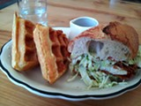 LUKE TSAI - The waffles are served with real syrup.