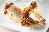 CHRIS DUFFEY - The whole roasted branzino was simply prepared but remarkably tasty.