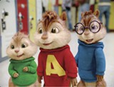 Theodore, Alvin, and Simon report for their first day of school.