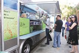 SONYA REVELL - There already are crowds outside the Liba falafel wagon in Emeryville.