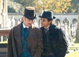 There's a whiff of homosexuality between Dr. Watson (Jude Law) and Sherlock Holmes (Robert Downey Jr.).