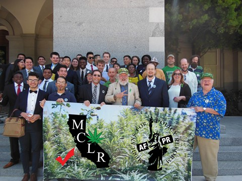 MCLR on steps of the State Capitol. - COURTESY OF MCLR