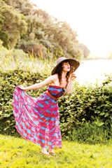 STEPHEN LOEWINSOHN - This summer, try a maxi dress paired with a wide-brimmed hat. Styled by Rare Bird.