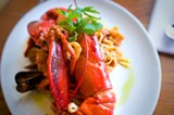 CHRIS DUFFEY - Tutto mare con aragosta all diavola was the most expensive and most delicious dish.