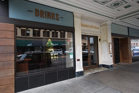The Tribune Tavern appears to have closed on Friday. - PHOTO BY SCOTT MORRIS