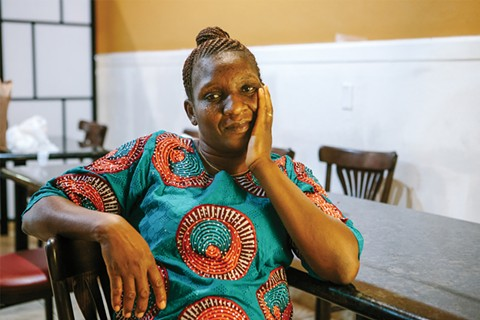 Ruth Ogbe opened her restaurant two years ago. - PHOTO BY MELATI CITRAWIREJA