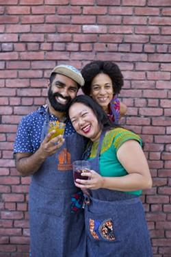 Clockwise, starting from the left: Saqib Keval, Jocelyn Jackson, and Sita Kuratomi Bhaumik. - PHOTO COURTESY OF SANA JAVERI KADRI