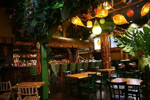The new bar features classic tiki kitsch. - PHOTO COURTESY OF THE KON-TIKI