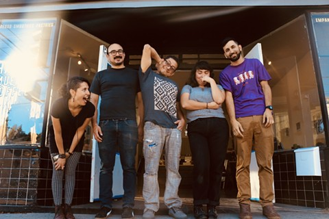 The five-person collective behind Fruitvale's newest gathering space. - PHOTO COURTESY OF HASTA MUERTE COFFEE